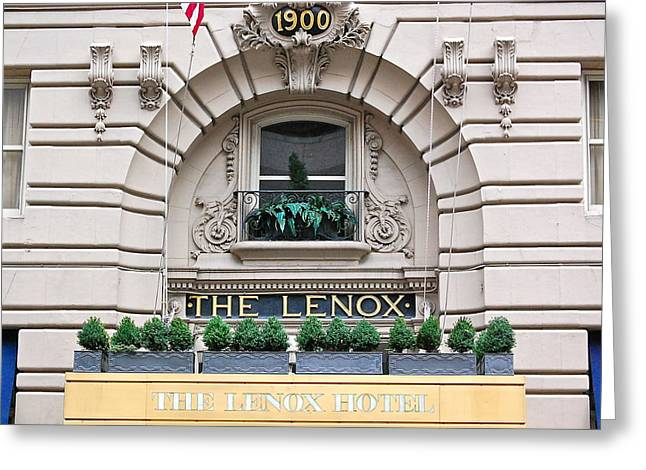 The Lenox Hotel - Boston Ma Greeting Card