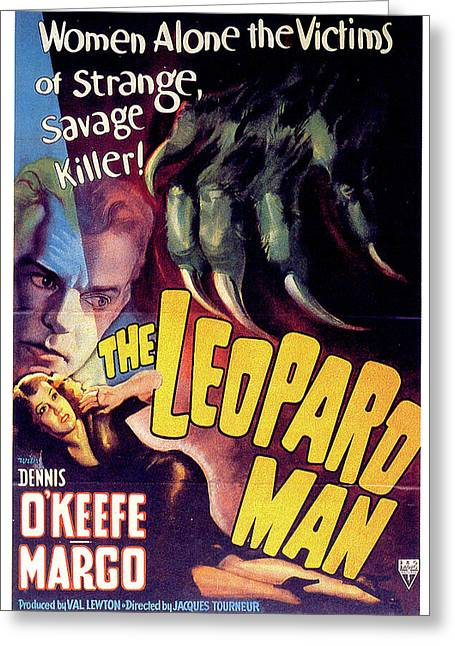 The Leopard Man Greeting Card by Movieworld Posters