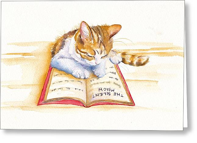 The Lesson Greeting Card by Debra Hall