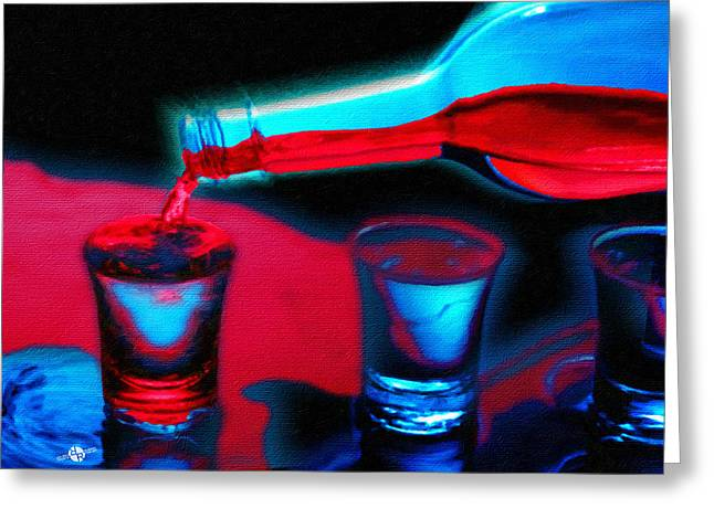 The Drink That Kills You Ode To Addiction Greeting Card by Tony Rubino