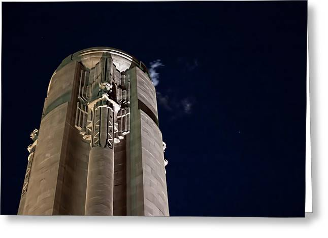 The Liberty Memorial At Night Greeting Card