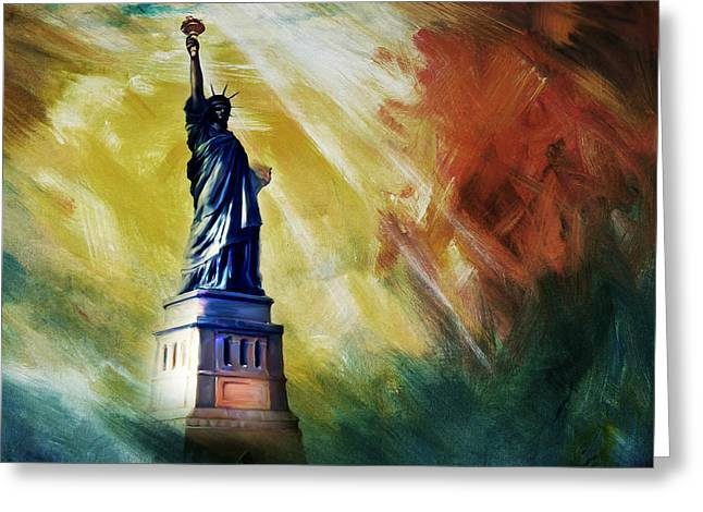 The Liberty Of Statue 01 Greeting Card