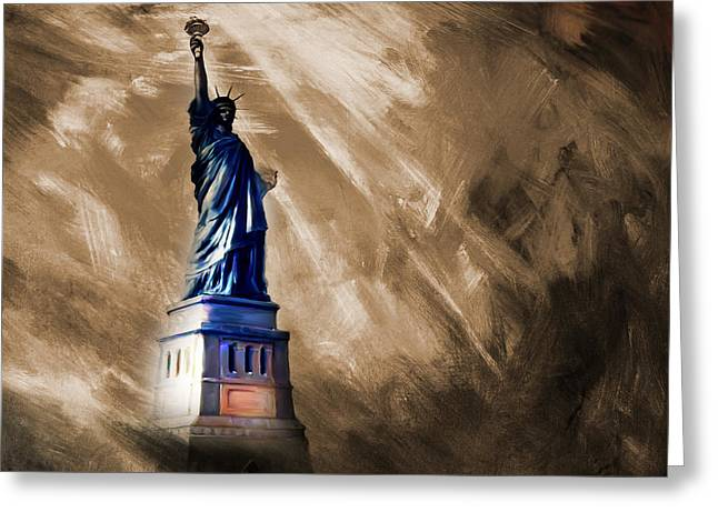 The Liberty Of Statue  Greeting Card