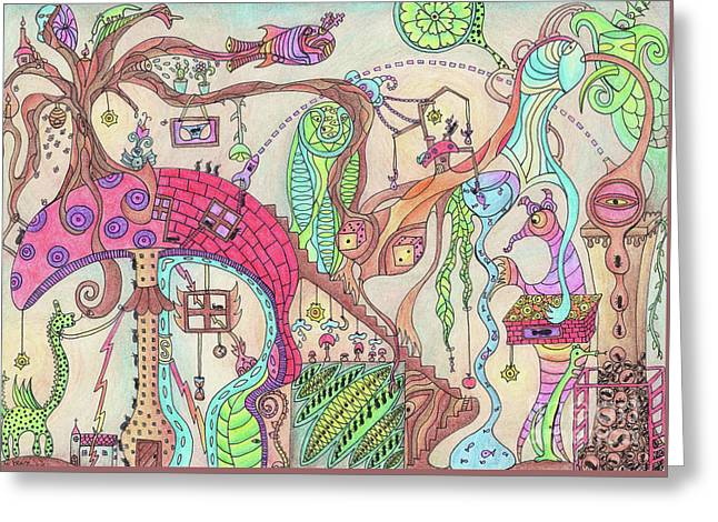The Life Of Ants Greeting Card by Suzie Frischmann