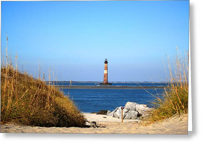 The Lighhouse At Morris Island Charleston Greeting Card