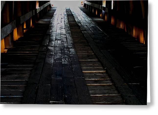 The Light At The End Greeting Card by Martin Morehead