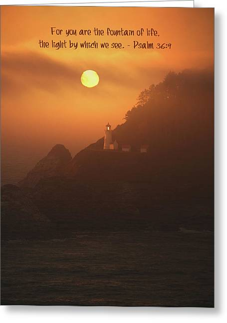 The Light Greeting Card by Bonnie Bruno