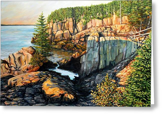 The Light Dawns On West Quoddy Head Greeting Card