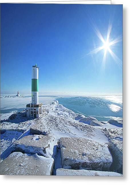 Greeting Card featuring the photograph The Light Keepers by Phil Koch