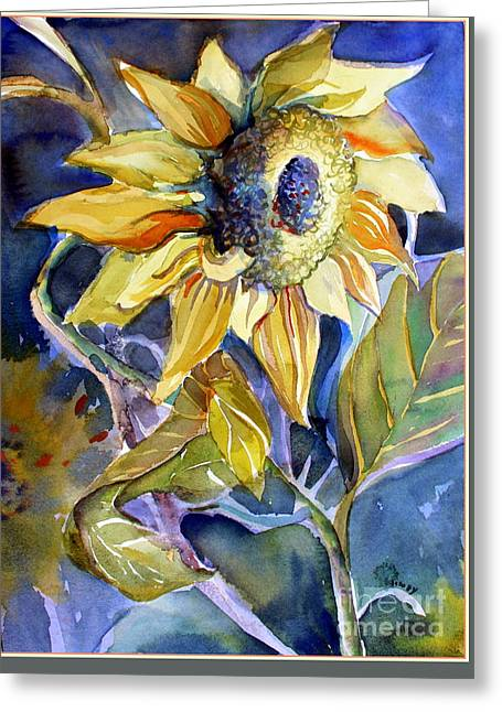 The Light Of Sunflowers Greeting Card by Mindy Newman