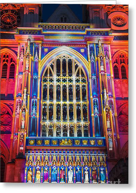 The Light Of The Spirit Westminster Abbey London Greeting Card by Tim Gainey