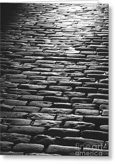 The Light On The Stone Pavement Greeting Card by Hideaki Sakurai