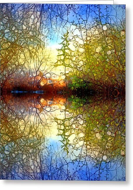 The Light Shines Kindly Greeting Card by Tara Turner