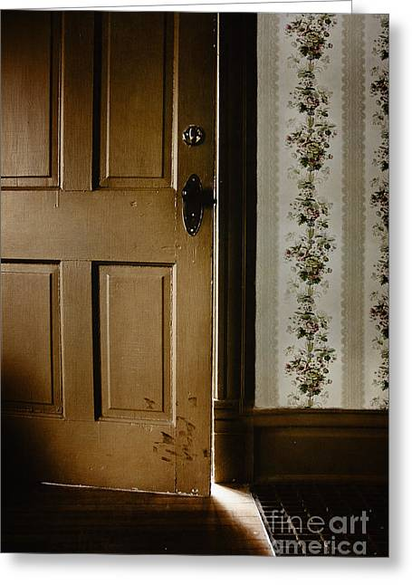 The Light Shone In Greeting Card by Margie Hurwich