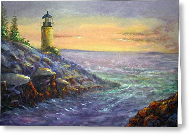 The Light That Leads Homeward Greeting Card