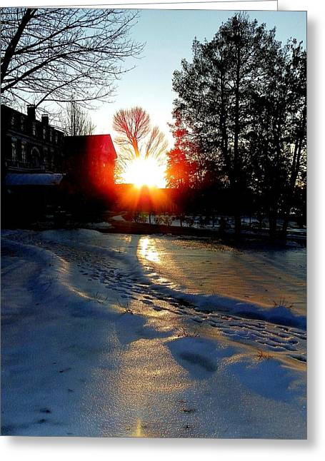 The Lighted Path Greeting Card by Karen Wiles