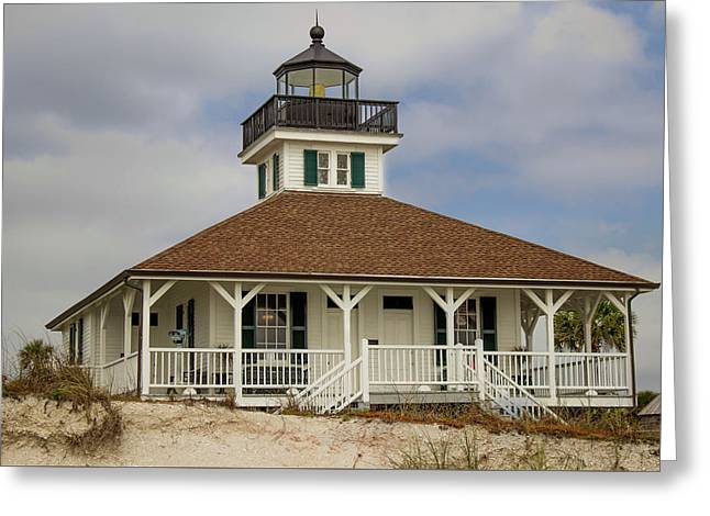 The Lighthouse At Boca Greeting Card