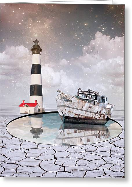 Greeting Card featuring the photograph The Lighthouse by Juli Scalzi