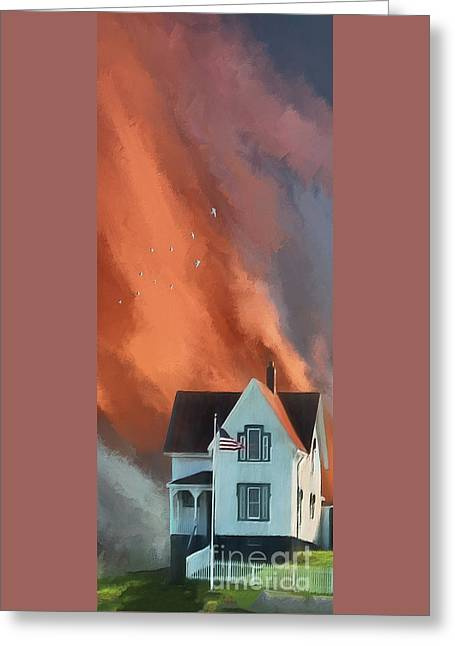 The Lighthouse Keeper's House Greeting Card