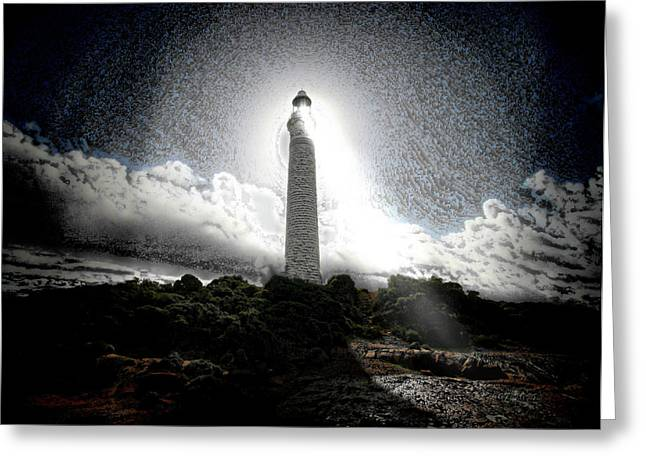 The Lighthouse Greeting Card by Mimulux patricia no No