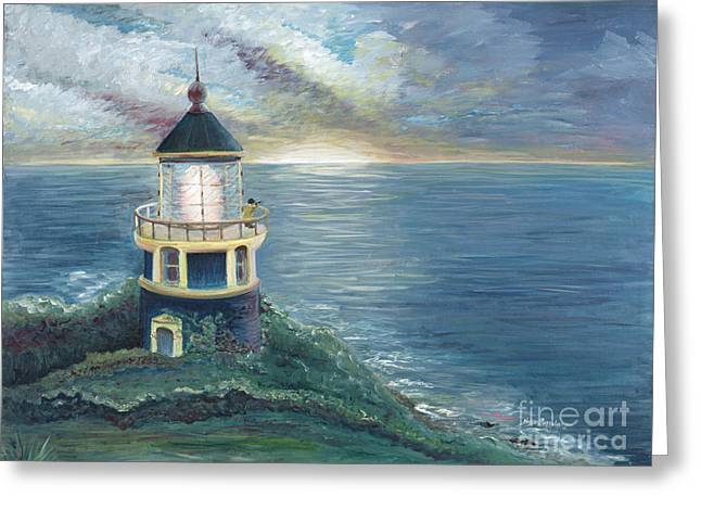 The Lighthouse Greeting Card by Nadine Rippelmeyer
