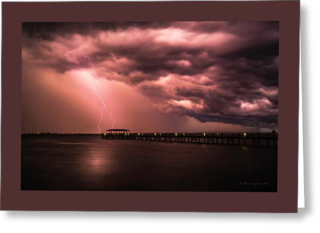 The Lightshow Greeting Card by Marvin Spates