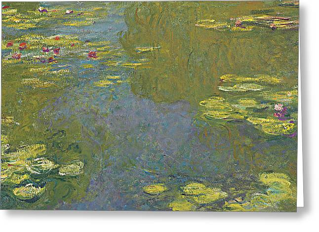 The Lily Pond Greeting Card by Claude Monet