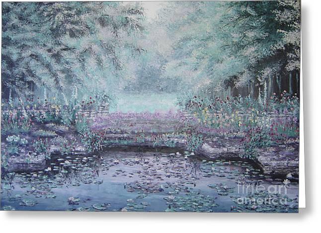 The Lily Pond Greeting Card by Cynthia Sorensen