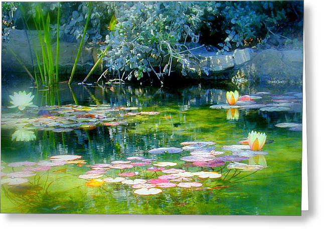 The Lily Pond I Greeting Card by Lynn Andrews