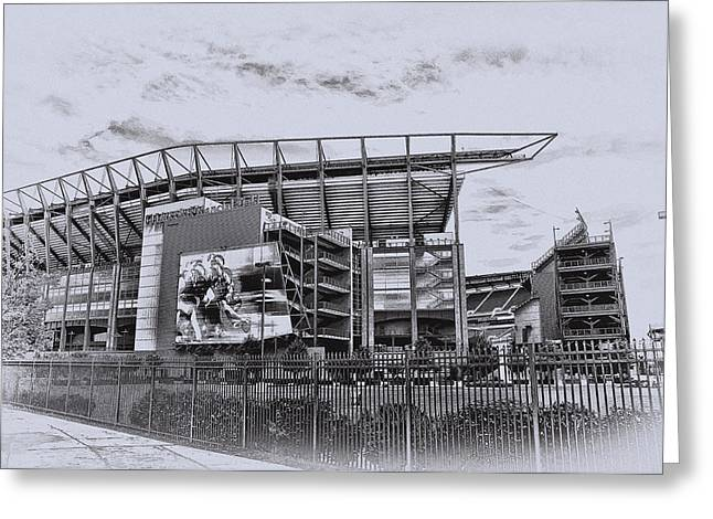 The Linc - Philadelphia Eagles Greeting Card by Bill Cannon