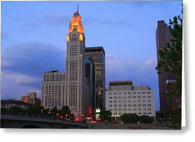 The Lincoln Leveque Tower Greeting Card