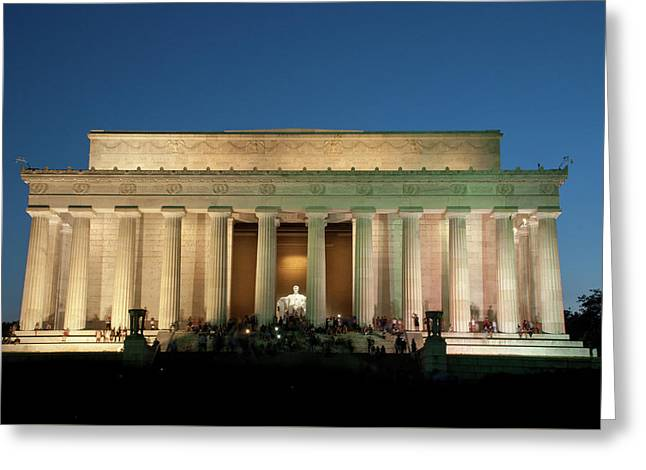 Greeting Card featuring the photograph The Lincoln Memorial by Mark Dodd