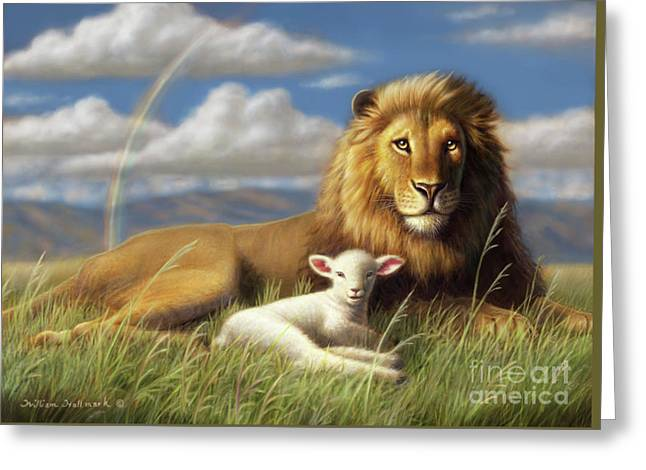 The Lion And Lamb Greeting Card