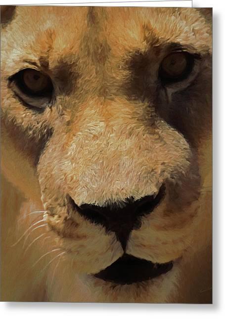 The Lion Da Greeting Card