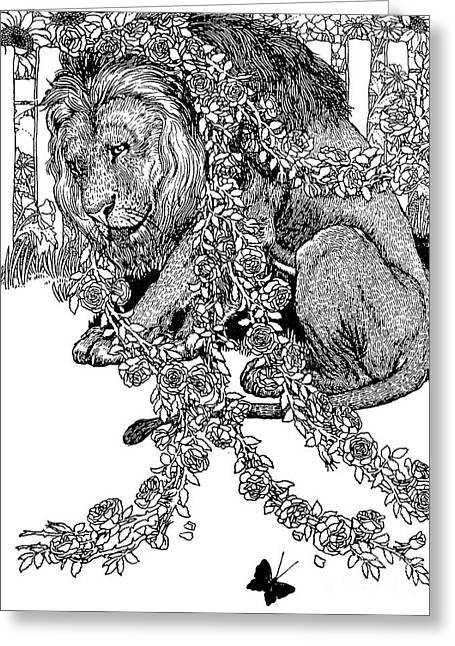 The Lion In Love Greeting Card