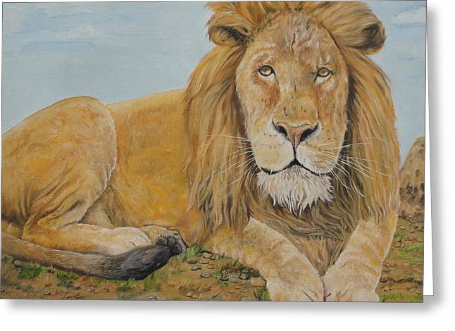 The Lion Greeting Card by Rajesh Chopra