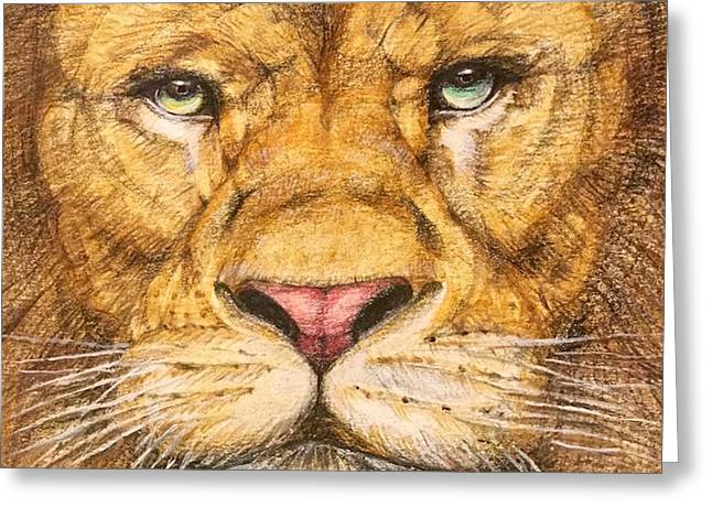 The Lion Roar Of Freedom Greeting Card by Kent Chua