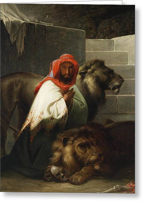 The Lion Tamer Greeting Card
