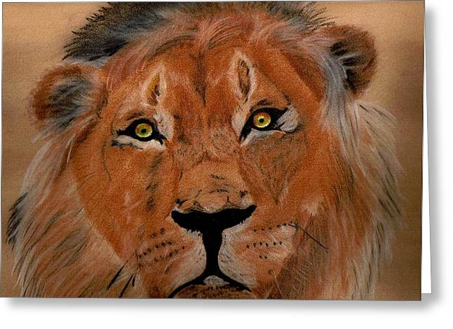 The Lion Within Greeting Card by ShadowWalker RavenEyes Dibler