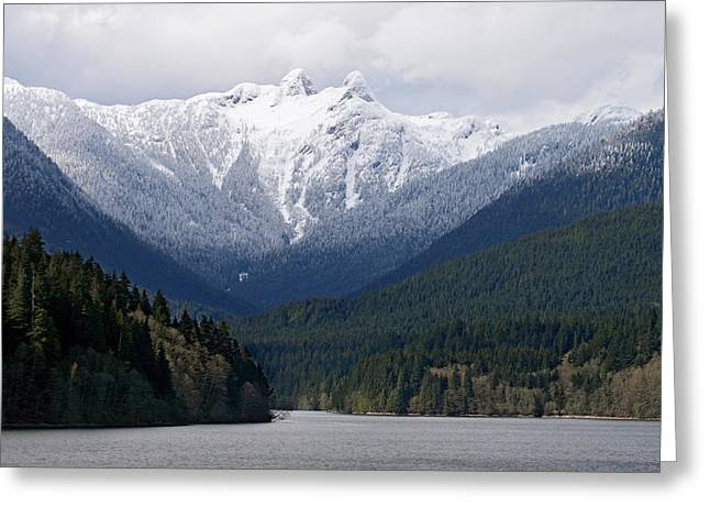The Lions Mountain Vancouver Greeting Card by Pierre Leclerc Photography
