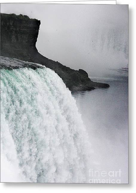 Greeting Card featuring the photograph The Liquid Curtain by Dana DiPasquale