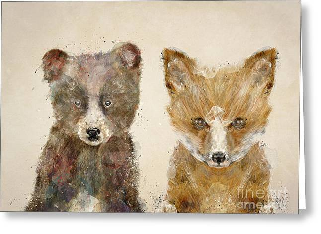 The Little Bear And Little Fox Greeting Card