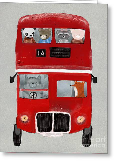 The Little Big Red Bus Greeting Card