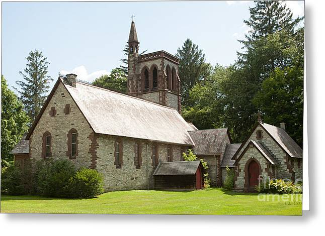 The Little Brown Church In The Vale Greeting Card by Carol Lynn Coronios