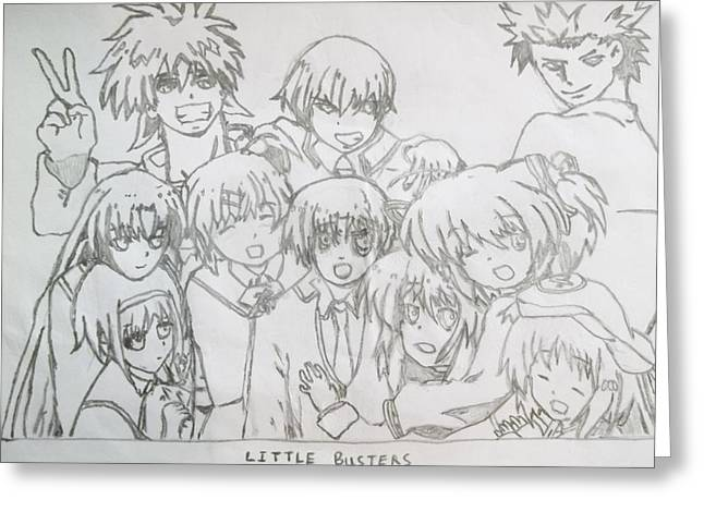 The Little Busters Animation Series Greeting Card by Darren Moore