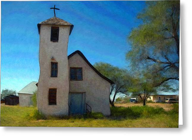 Church Pastels Greeting Cards - The Little Church Greeting Card by Snake Jagger
