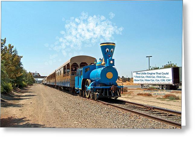 The Little Engine That Could Greeting Card by Carl Deaville