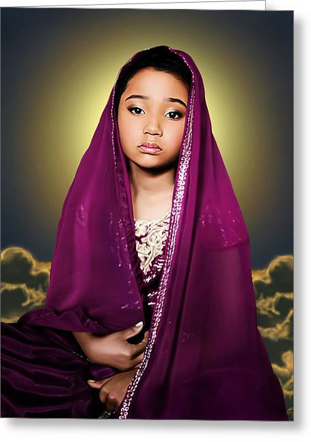 The Little Goddess Greeting Card