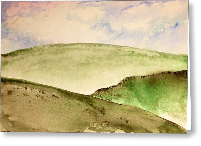 Greeting Card featuring the painting The Little Hills Rejoice by Antonio Romero