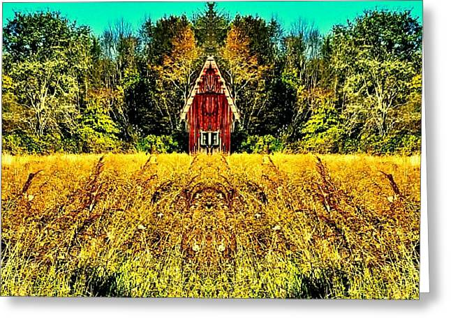 The Little House In The Field Greeting Card by Scott D Van Osdol